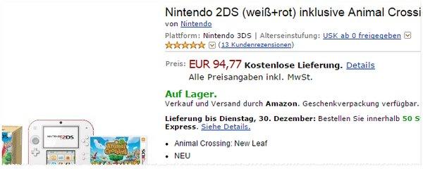 Nintendo 2DS + Animal Crossing