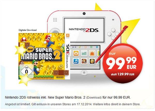 Nintendo 2DS Super Mario Bros. 2 bei Gamestop