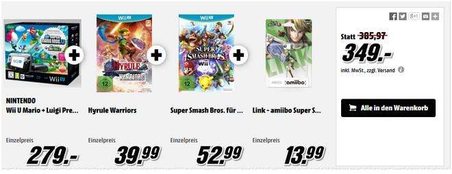 Nintendo Wii U Pack aus der Media Markt Werbung