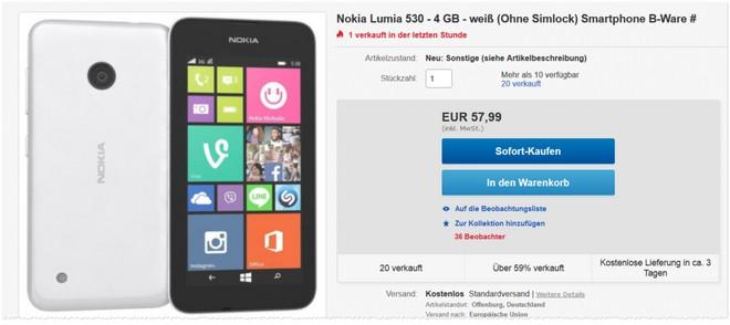Nokia Lumia 530 B-Ware