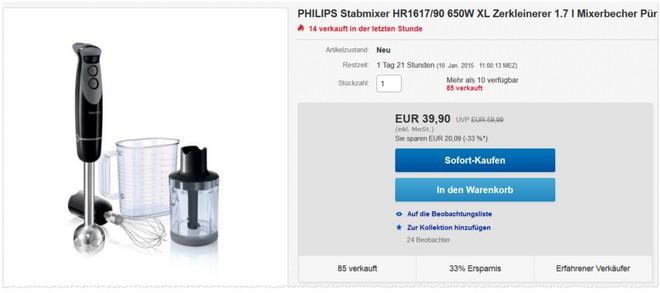 Philips HR1617/90 Stabmixer