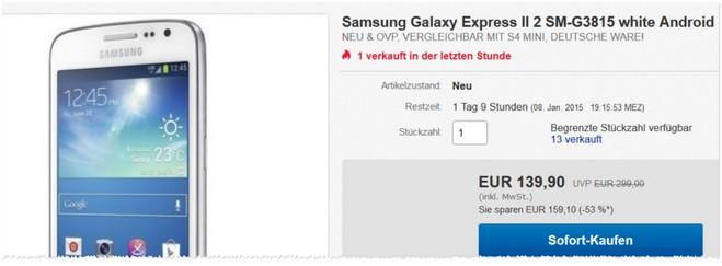 Samsung Galaxy Express 2 Testberichte