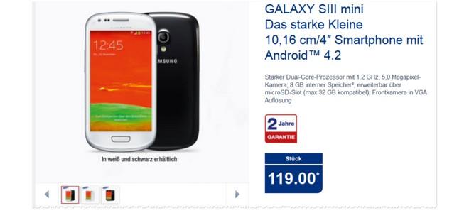 Samsung Galaxy S3 mini als ALDI Angebot