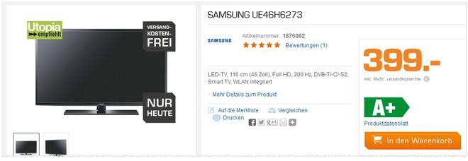 Samsung UE46H6273 Tests