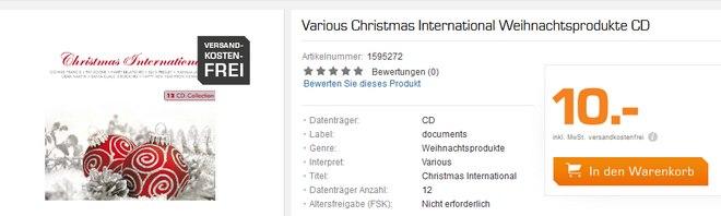 Saturn: 12 Weihnachts-CDs für 10 €