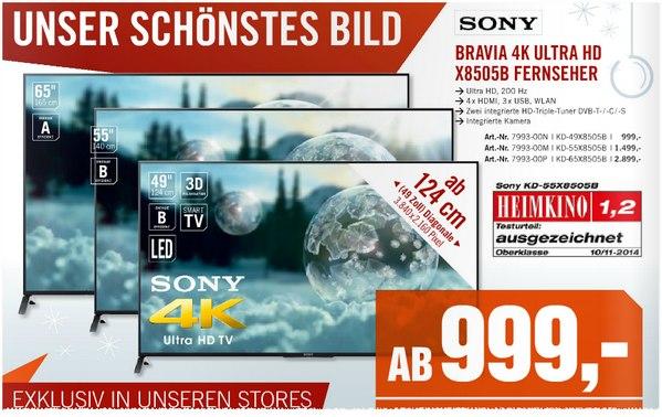 Sony KD-49X8505B im Cyberport Prospekt