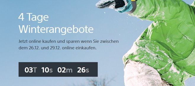 Sony Winterangebote