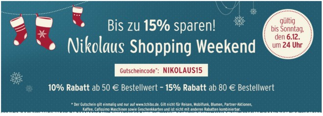 Tchibo Nikolaus Shopping Weekend 2015