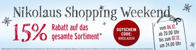 Tchibo Nikolaus Shopping Weekend Gutschein