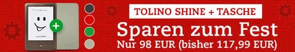 Tolino Shine mit Tasche als Thalia Weihnachtsangebot für 98 €