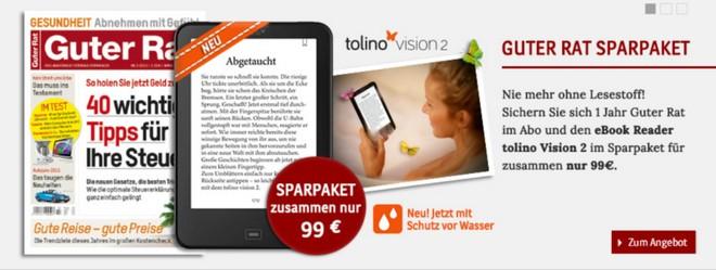 Tolino Vision 2 mit Guter Rat Abo