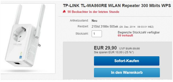 TP-Link TL-WA860RE WLAN-Repeater