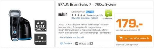 Braun Series 7 760cc-6 aus der Saturn-Werbung mit Cashback
