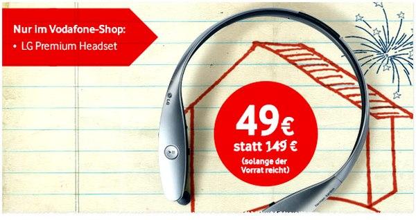 LG HBS 900 Infinim Headset als Vodafone Deal der Woche vom 2.1. bis 5.1.2015 für 49 €