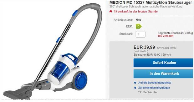Medion MD 15327 Staubsauger