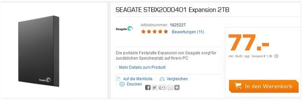 SEAGATE STBX2000401 Expansion 2TB