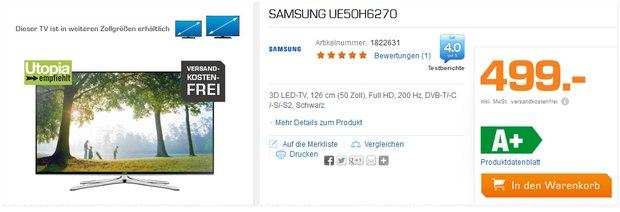 Samsung UE50H6270 bei Saturn