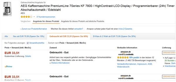 AEG KF 7800 gebraucht kaufen