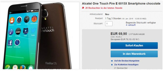 Alcatel One Touch Fire E ohne Vertrag