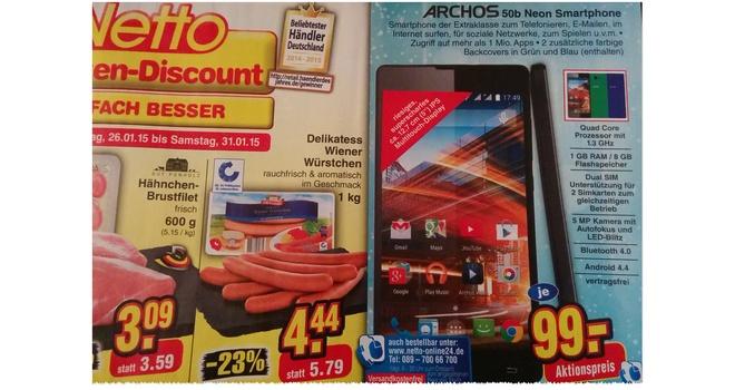 Archos 50b Neon ohne Vertrag