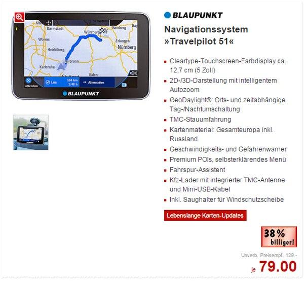 Blaupunkt Travelpilot 51 bei Kaufland für 79 €