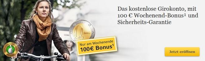 Commerzbank 100 Euro Wochenend-Bonus