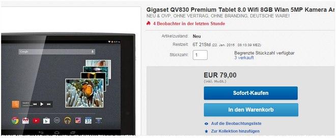 Gigaset QV 830 Tablet