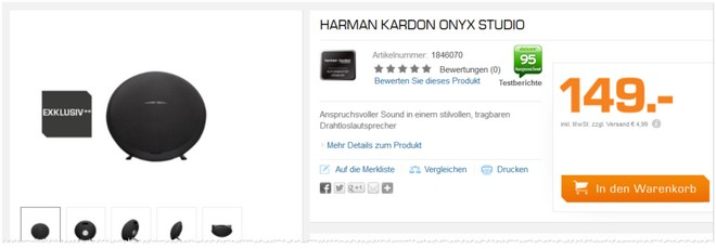 Harman Kardon Onyx Studio Tests