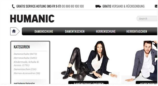 Humanic Online-Shop bei eBay