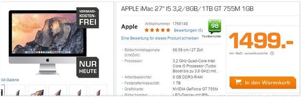 iMac 27 bei Saturn für 1499 €