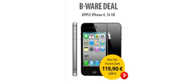 iPhone 4 B-Ware Deal MeinPaket