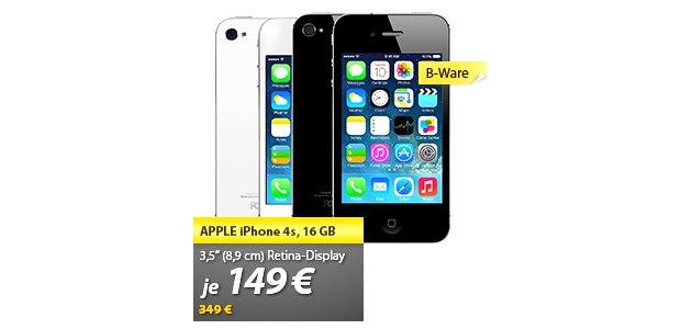 iPhone 4S Angebot (B-Ware) für 149 €
