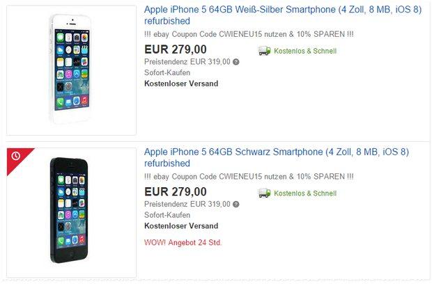 iPhone 5 64GB refurbished