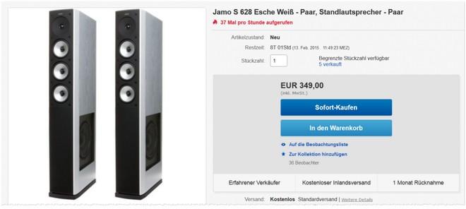 Jamo S 628 Stand-Lautsprecher Paar