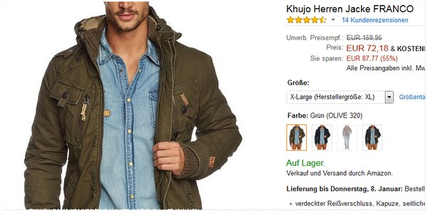 Khujo Sale bei Amazon