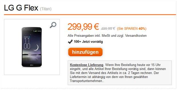 LG G Flex ohne Vertrag als Orange Angebot