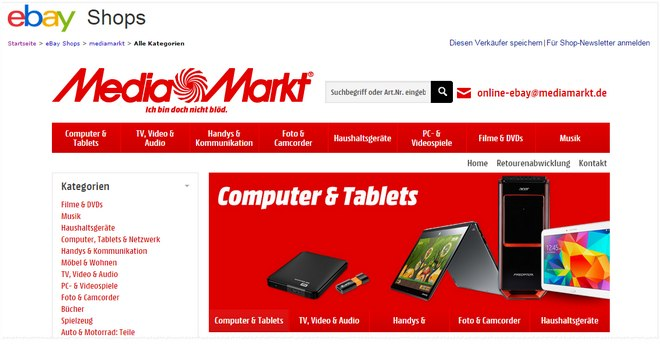 Media Markt eBay Online-Shop