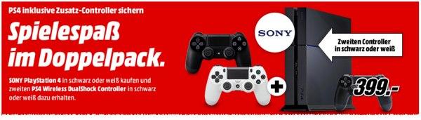 Media Markt Sony PlayStation 4 Aktion mit 2. Controller