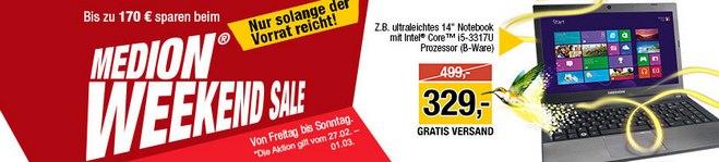 Medion Weekend Sale bis 1.3.2015