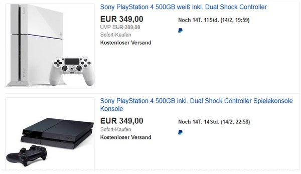 Nackte PS4 Konsole für 349 €