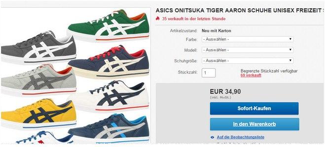 Onitsuka Tiger Sneaker für 34,90 €