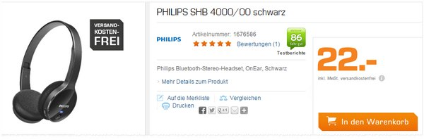 Philips SHB 4000 bei Saturn