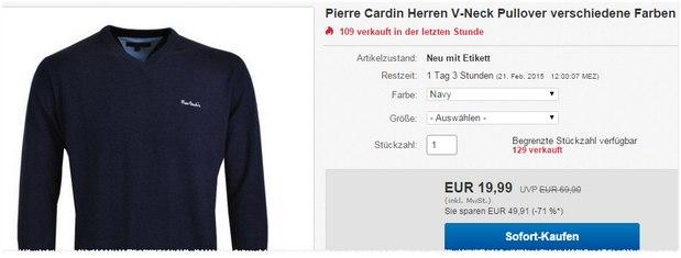 Pierre Cardin Pullover mit Rabatt