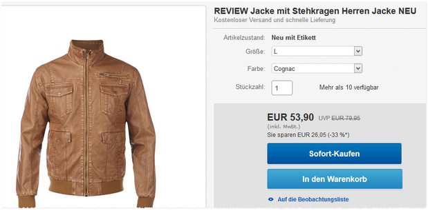 Review Kunstlederjacke