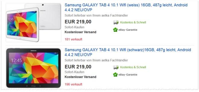 Samsung GalaxyTab 4 günstiger kaufen