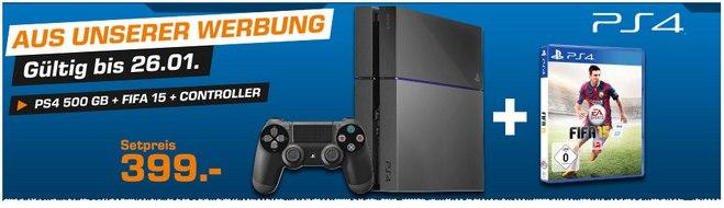 Saturn Angebot Sony PS4 + FIFA 15