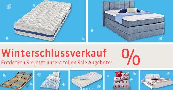 Schlafwelt Winterschlussverkauf