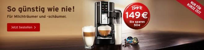 Rabatt für die Tchibo Cafissimo Latte Kapselmaschine