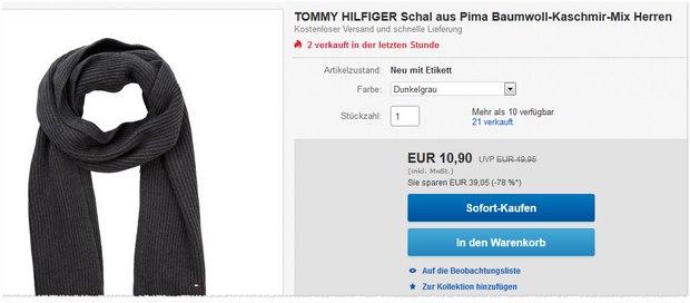Tommy Hilfiger Schal Pima in Dunkelgrau