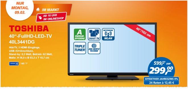 Toshiba 40L3441DG als Real Deal des Tages